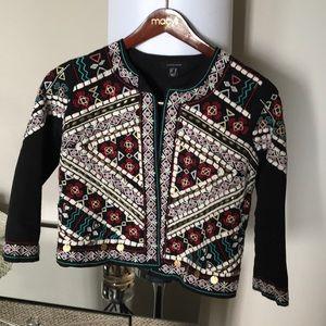Jackets & Blazers - Embroidered black jacket